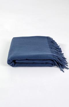 "Plaid ""Lanavitta MERINO-MIX"" blue 140x200"